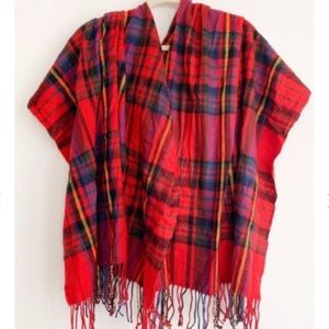 Warm Cozy Plaid Scarf